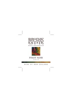 Brodie Estate Pinot Noir 2014